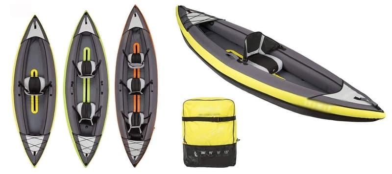BZLLW Kayak Inflable 3 Persona K3 kayakteka