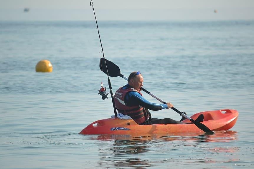 guia kayak pesca kayakteka