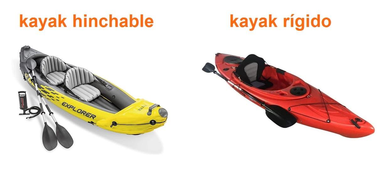 kayak hinchable vs kayak rígido kayakteka